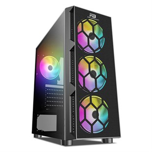 POWER BOOST VK-D501M 650W 80+ Mesh Panel Rainbow Fan USB 3.0 Mid Tower Kasa